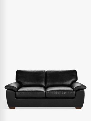 John Lewis & Partners Camden Large 3 Seater Leather Sofa, Dark Leg