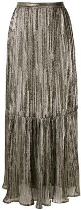 Reinaldo Lourenço Metallic Effect Tulle Maxi Skirt