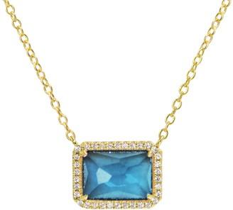 Kamaria Atiena London Blue Topaz Necklace in Gold