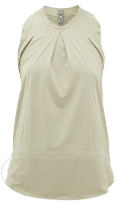 adidas by Stella McCartney Inverted-pleat Technical Tank Top - Womens - Green
