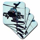 3dRose cst_730_3 Apache Longbow-Ceramic Tile Coasters, Set of 4