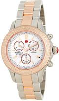 Michele Women's Jetway Diamond Two-Tone Stainless Steel Bracelet Watch - 0.05 ctw