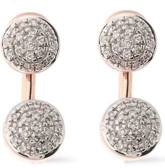 Monica Vinader Sterling Silver Diamond Earrings
