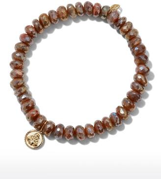 Sydney Evan 14k Labradorite Buddha Coin Bracelet