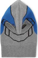 Stella Mccartney Intarsia Knitted Helmet Hat