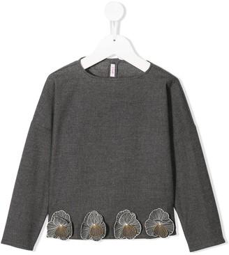 Il Gufo appliqué detail blouse