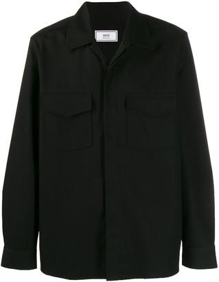Ami Open Collar Button-Up Shirt