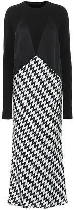 Haider Ackermann Zigzag jersey dress