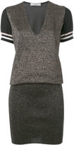 Lanvin metallic knitted dress - women - Polyester/Viscose/Wool/Metallized Polyester - S