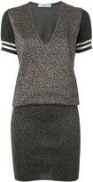 Lanvin metallic knitted dress - women - Wool/Viscose/Polyester/Metallized Polyester - S