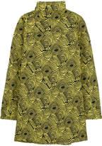 Marni Printed Cotton-poplin Turtleneck Top