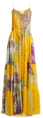Camilla Golden Years Silk Maxi Dress - Womens - Yellow Multi