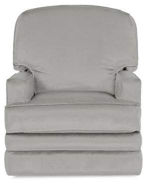 Wayfair Custom Upholstery Bridger Glider Swivel Recliner Body Fabric: Bayou Flame, Piping Fabric: Bayou Flame