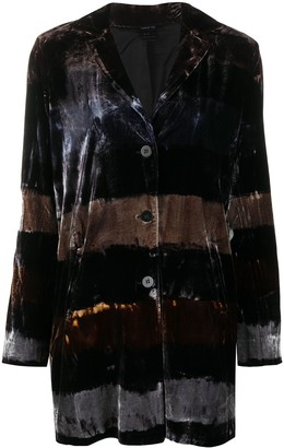 Avant Toi Striped Velvet Blazer
