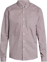 Ami Checked single-cuff cotton-poplin shirt