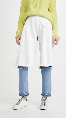 Ksenia Schnaider Light Blue and White Demi Denims Jeans