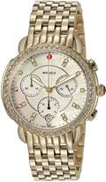Michele Women's 'Sidney' Swiss Quartz Stainless Steel Casual Watch, Color:-Toned (Model: MWW30A000008)