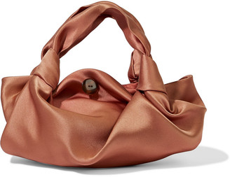 The Row Ascot Two Knotted Silk-satin Tote