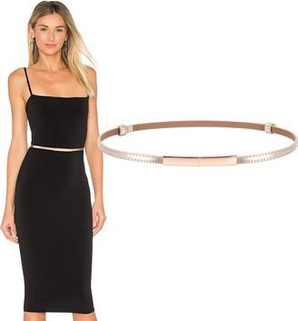 WERFORU Women's Skinny Leather Belt Shiny Adjustable Slim Waist Belt with Gold Alloy Buckle for Dress