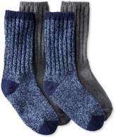 """L.L. Bean L.L.Bean Merino Wool Ragg Socks, 10"""" Two-Pack"""