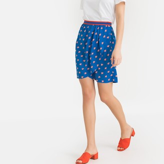 La Redoute Collections Parasol Print Wrapover Pencil Skirt