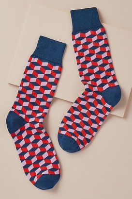 Catherine Tough Cube Cotton Socks