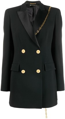 Versace chain detail double breasted blazer
