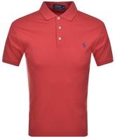 Ralph Lauren Pima Polo T Shirt Red
