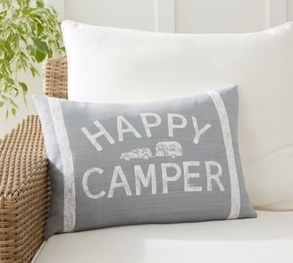 Pottery Barn Airstream Happy Camper Lumbar Pillow Cover