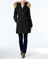Jones New York Faux-Fur-Trim Hooded Down Puffer Coat