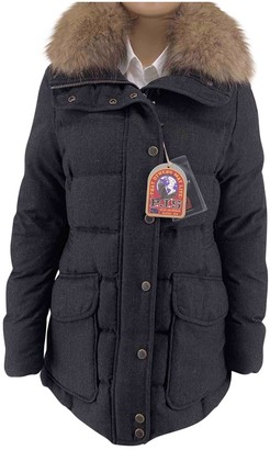 Parajumpers Anthracite Wool Coat for Women