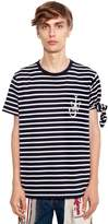 J.W.Anderson Logo Embroidered Striped Jersey T-Shirt