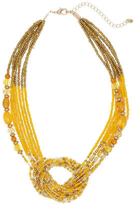 MIXIT Mixit Mustard 18 Inch Beaded Necklace