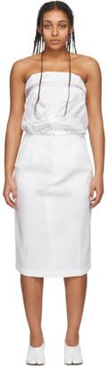 Maison Margiela White Cotton Twill Dress