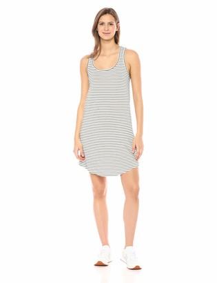Daily Ritual Amazon Brand Women's Supersoft Terry Racerback Shirttail Dress