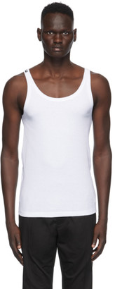 Dolce & Gabbana White Ribbed Tank Top
