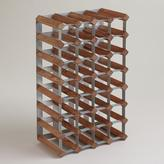 Cost Plus World Market Wood & Metal Industrial Wine Rack
