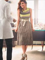 New York & Co. Eva Mendes Collection - Matilda Paperbag-Waist Midi Skirt