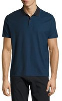 HUGO BOSS Honeycomb Polo Shirt with Contrast Tipping, Navy