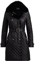 Ralph Lauren Faux Fur-Trim Quilted Jacket