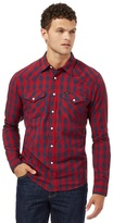 Lee Red Checked Slim Fit Shirt