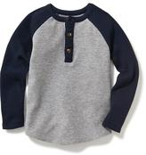 Old Navy Color-Block Thermal Henley for Toddler