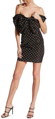 Bardot Spot Bow Dress