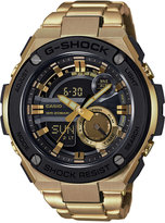 G-Shock Men's Analog-Digital G-Steel Gold-Tone Ion-Plated Stainless Steel Bracelet Watch 52x59mm GST210GD-1A
