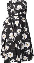 Oscar de la Renta orchid print strapless dress - women - Silk/Polyester - 10