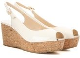 Jimmy Choo Praise Patent Leather Wedges