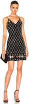 David Koma Diamond Plexi & Crystals V-Cut Dress