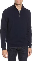 Ted Baker Tunnel Slim Fit Textured Quarter Zip Sweater