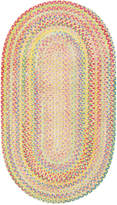 Capel Area Rug, Cutting Garden Oval Braid 0450-150 Buttercup 3' x 5'