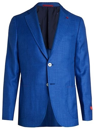 Isaia Summertime Solid Cashmere & Silk Sportcoat